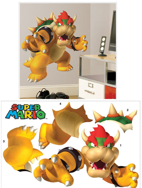super mario brothers bowser giant wall sticker the frog