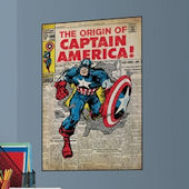 Captain America Comic Book Cover Sticker