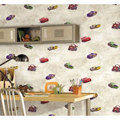 Disney Cars Cream Racing Wall Paper