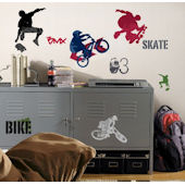 Extreme Sports New Peel and Stick Wall Decal