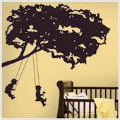 Kids on Swings Giant Wall Decal