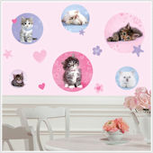Kitty Dots Wall Stickers