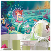 Little Mermaid Ariel Giant XL Wall Mural 6 x 10