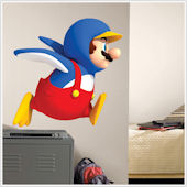 New Super Mario Bros Wii Penguin Mario Sticker