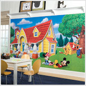 Mickey and Friends XL Wall Mural 6 x10.5 ft