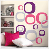 Modern Ovals Peel and Stick Wall Stickers