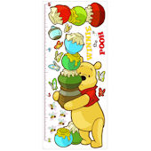 Pooh and Friends Peel and Stick Growth Chart
