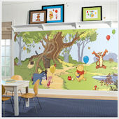 Pooh and Friends XL Wall Mural 6 x10.5 ft