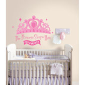 Princess Sleeps HerePersonalized Wall Decal