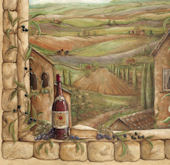 Tuscan View Wall Mural