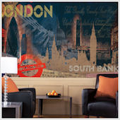 Streets of London  XL Wall Mural