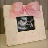Our Gift From God Pink Frame