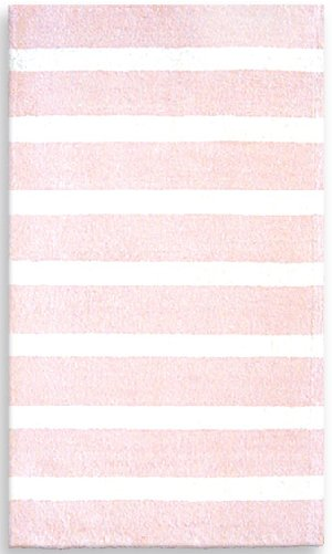 Cabana Pink And White Stripe Rug The Frog And The Princess