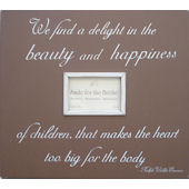 Beauty and Happiness  Picture  Frame