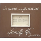 Family Quote  Blue  Picture  Frame