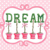 Bella Dream Topiary Canvas Wall Art