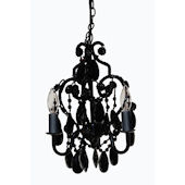 Black Onyx  3 Bulb Mini Chandelier