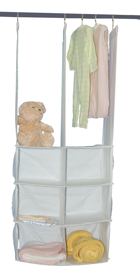 cotton canvas double hanging closet organizer the frog and the princess. Black Bedroom Furniture Sets. Home Design Ideas
