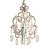 White Diamond  3 Bulb Mini Chandelier