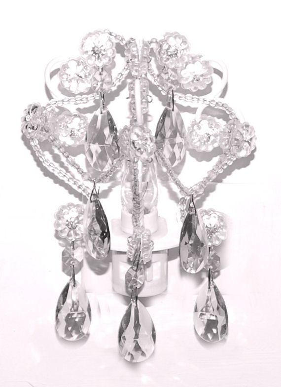 White Diamond Chandelier Night Light - The Frog and the Princess
