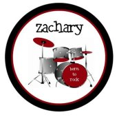 Born To Rock Personalized Plate