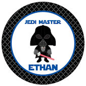 Sweet Madys Star Wars Inspired Personalized Plate