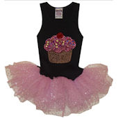 Cupcake Skirted Dress with Glittered Tulle SALE