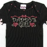 Daddys Girl Crystal Bling Tee Shirt