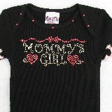 Mommys Girl Crystal Bling Tee Shirt