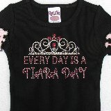 Every Day is a Tiara Day Crystal Bling Tee SALE
