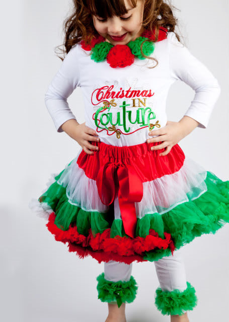 Couture Christmas Outfits for Girls