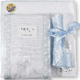 SwaddleDesigns Pastel Blue Polka Dot Gift Set