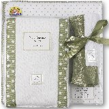 SwaddleDesigns Sage Polka Dots Gift Set