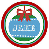 Christmas Ornament Boy  Personalized  Plate