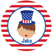 Adorable ME 4th of July Boy/ Girl Plate