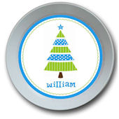 Whimsical Blue Tree Personalized Bowl
