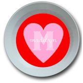 Candy Heart Personalized  Bowl