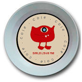 Valentine Monster Love Personalized  Bowl