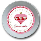 Pink Ornament Personalized Bowl