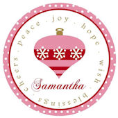Pink Ornament Personalized Plate