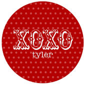 Valentines XOXO Red Personalized Plate