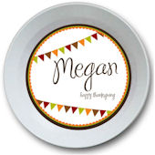 Sweet Madys Autumn Banner Personalized Bowl