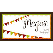 Sweet Madys Autumn Banner Personalized  Placemat