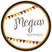 Sweet Madys Autumn Banner Personalized  Plate