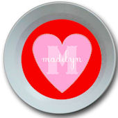 Sweet Madys Candy Heart Personalized  Bowl