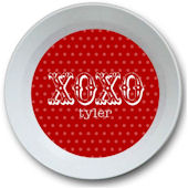 Sweet Madys XOXO Red Personalized  Bowl