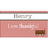 Sweet Madys Gingham Boy Placemat