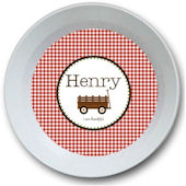 Sweet Madys Gingham Boy Bowl