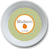 Sweet Madys Gingham Girl Bowl