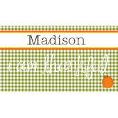 Sweet Madys Gingham Girl Placemat
